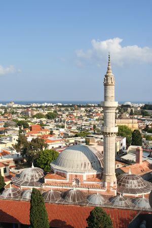 rhodes: Main mosque of Rhodes, Greece Stock Photo