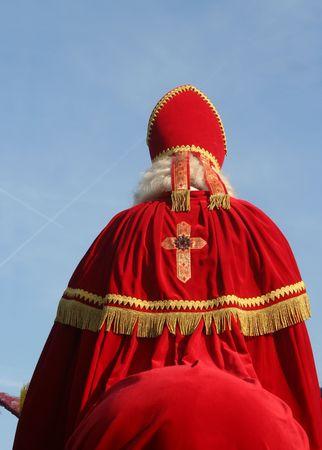nicolaas: Dutch Santa Claus on his Horse Stock Photo