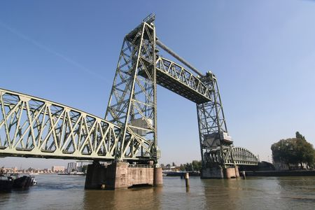 monumental: Monumental Koningshaven Railway Bridge (de Hef) in Rotterdam Stock Photo