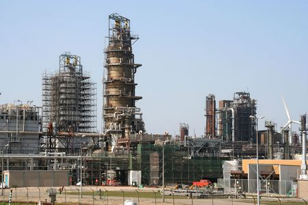 Oil refinery in Rotterdam Europoort Stock Photo - 6012169