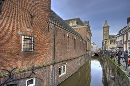 buiding: Utrecht Canal Stock Photo