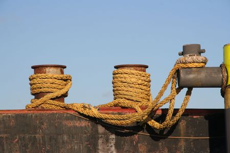 Ropes in the harbor Stock Photo - 6660605