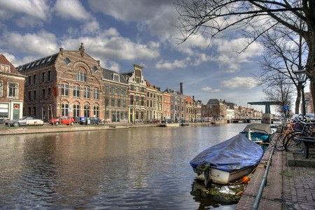 Canal in Leiden, Holland Stock Photo - 7002879