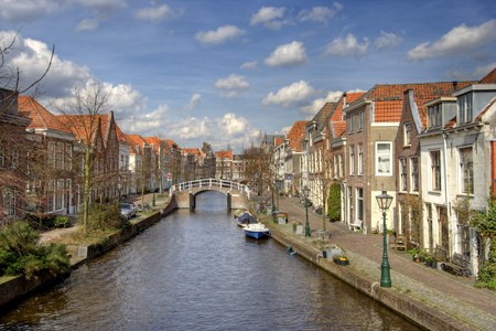 Canal in Leiden photo