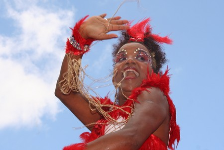ROTTERDAM, HOLLAND - JULY 25, 2009: Participant in the parade of the annual Summer Carnival in Rotterdam on July 25, 2009 in Rotterdam, Holland Stock Photo - 7397583