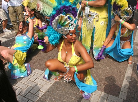american city: ROTTERDAM, HOLLAND - JULY 25, 2009: Participant in the parade of the annual Summer Carnival in Rotterdam on July 25, 2009 in Rotterdam, Holland Editorial