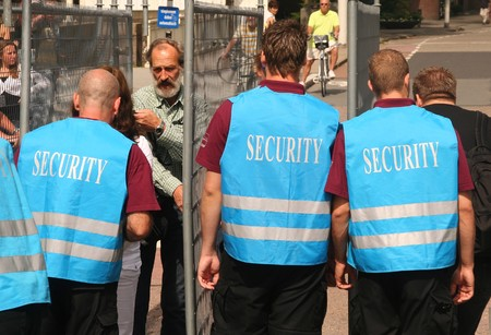ROTTERDAM, HOLLAND - AUGUST 8, 2009: Security Check at the annual Dance Parade in Rotterdam, Holland on August 8 Stock Photo - 7457552