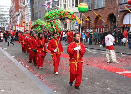 THE HAGUE, HOLLAND - FEBRUARY 13, 2010: Chinese New Year celebration in The Hague, Holland on february 13, 2010