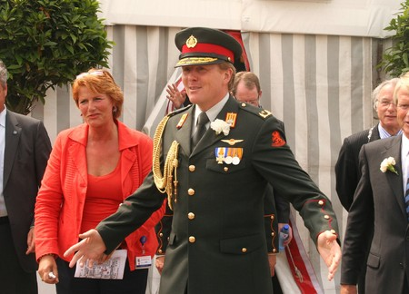 orange nassau: THE HAGUE, HOLLAND - JUNE 27: Crown Prince Willem-Alexander of the Netherlands at the annual parade on Veterans Day on June 26, 2009 in The Hague, Holland. Editorial