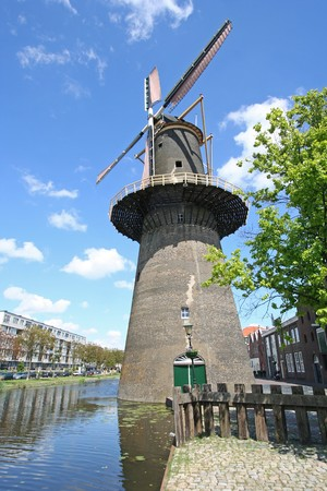 Large stone windmill in Schiedam, Holland Stock Photo - 7607369