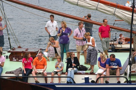AMSTERDAM, AUGUST 19, 2010: Party boat at Sail 2010 in Amsterdam, Holland on august 19, 2010 Stock Photo - 7659985