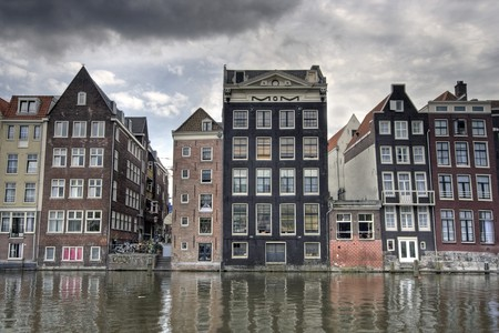 Historic houses on Amsterdam canal photo