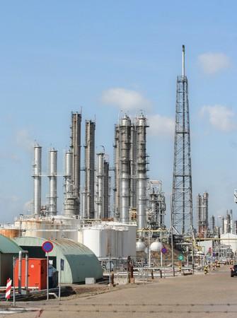 Oil refinery in Rotterdam harbor area Stock Photo - 7838265