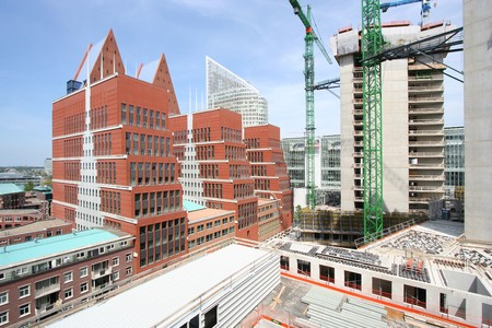Construction site of office buildings in The Hague, Holland Stock Photo - 7878395
