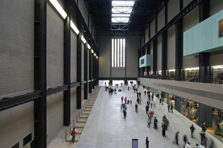 Interior of the Tate Modern Art Gallery, housed in a former power station. Picture taken on December 30, 2007 in London, UK.