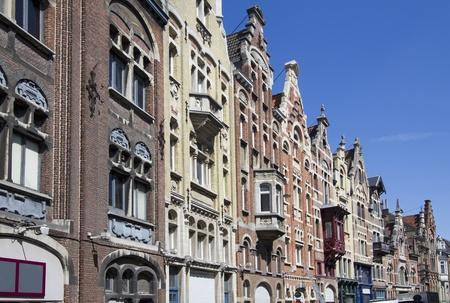 gables: Historical gables in Ghent, Belgium Stock Photo