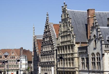 gables: Gables of historical housesn in Ghent, Belgium