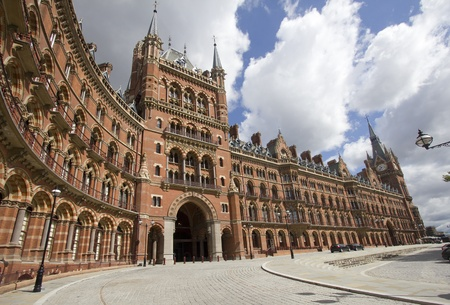 St. Pancras station in London, UK