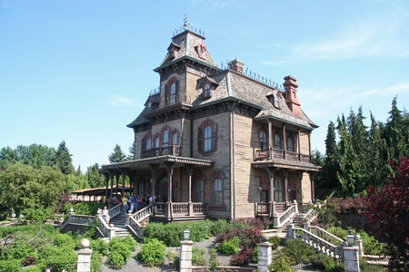 haunted house: House of Horrors in Euro Disneyland Park in Paris, France Editorial