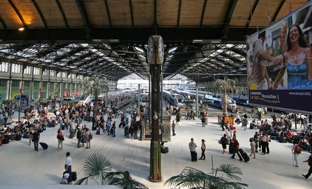 Interior of Gare de Lyon in Paris