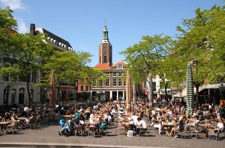 Cafe Terrace in Den Haag, Nederland