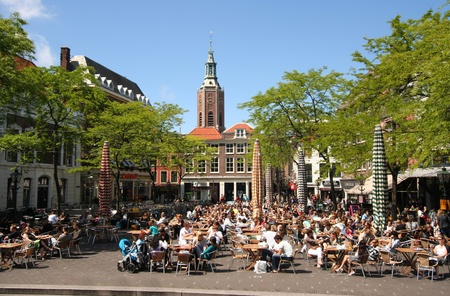 Cafe Terrace in The Hague, Holland