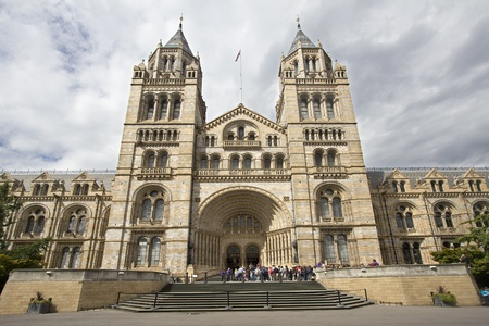 LONDON, UK - JULY 22: Queue of visitors at the entrance to the Natural History Museum on July 22, 2011 in London, UK. Stock Photo - 11186246