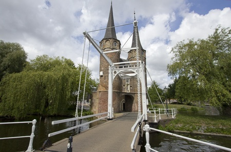 delft: The Oostpoort, painted by Vermeer, in Delft, Holland Stock Photo