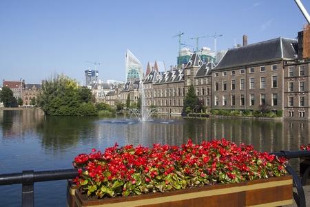 The Binnenhof, Dutch parliament buildings in The Hague, Holland photo