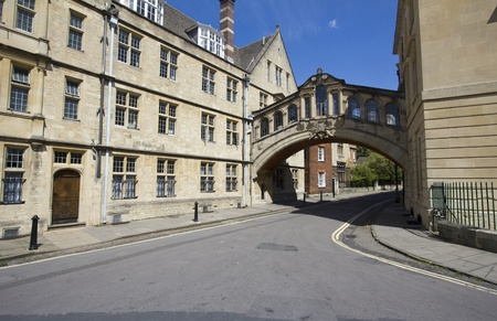 oxford street: Bridge of Sighs in Oxford, UK