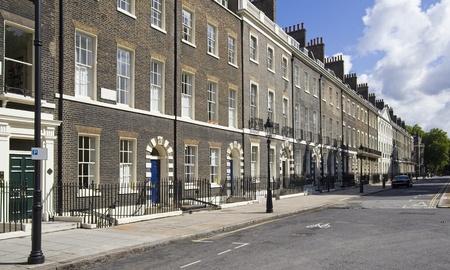 Huizen in Bloomsbury in Londen, UK