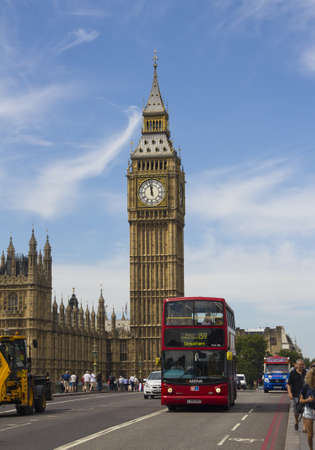 London, UK - July 24, 2011: Big Ben and traffic on Westminster Bridge on July 25, 2011 in London, UK Stock Photo - 11581305