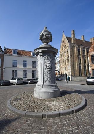 Bruges square in Belgium photo