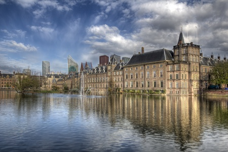Binnenhof, political center of The Netherlands, in The Hague