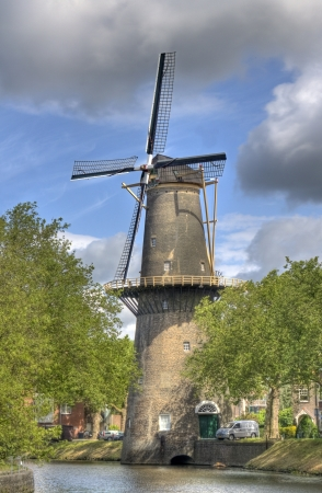 schiedam: Windmill in Schiedam, Holland