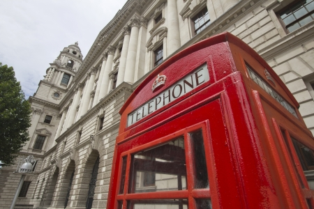 Phone booth in London, UK photo