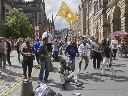EDINBURGH, UK: AUGUST 2: Performers on the Edinburgh Festival Fringe in Edinburgh, UK on August 2, 2012