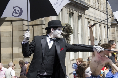 EDINBURGH, UK: AUGUST 2: Performers at the Edinburgh Festival Fringe in Edinburgh, UK on August 2, 2012