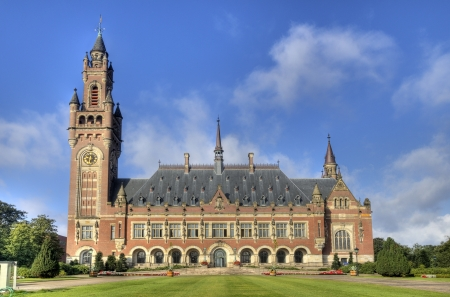 The Peace Palace, International Court of Justice, in The Hague, Holland