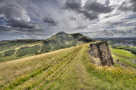 View of Arthurs Seat in Edinburgh photo