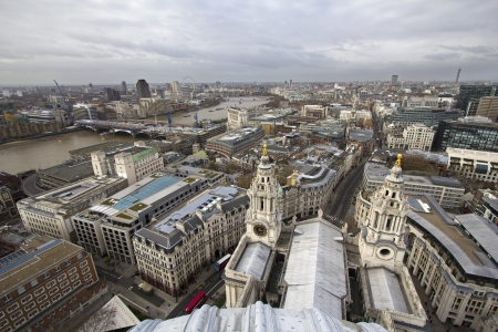 View from St  Pauls Cathedral in London, UK photo