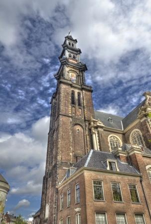 westerkerk: The tower of the Westerkerk  Westerchurch  in Amsterdam