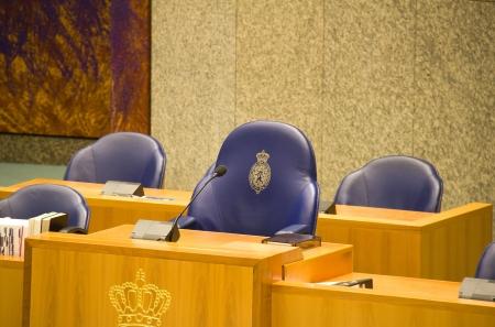 Zetel van de Charman van het Nederlandse parlement in Den Haag, Nederland