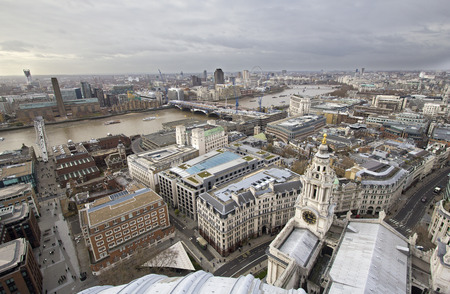 View from St. Pauls Cathedral in London, UK