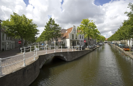 delft: Canal in Delft, Holland