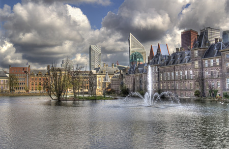 'the hague': Binnenhof, political center of The Netherlands, in The Hague