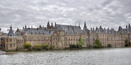 The political center of the Netherlands, Parliament buildings of the Binnenhof in The Hague, Holland Stock Photo
