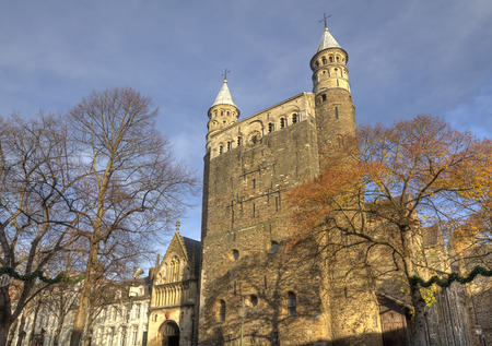 our: Basilica of Our Lady in Maastricht, Holland Stock Photo