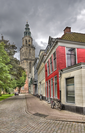 Martini church tower in Groningen, Holland