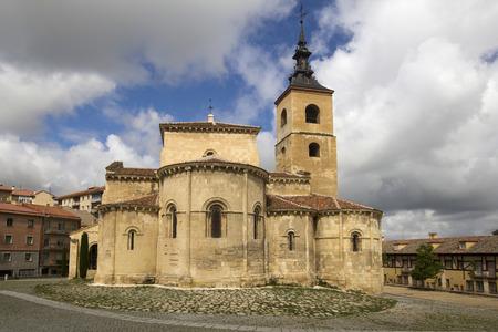 millan: The historic Parroquia de san Millan church in Segovia, Spain Stock Photo